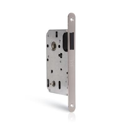 Zamek drzwiowy magnetyczny z regulowaną blachą zaczepową WC