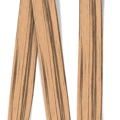 Obrzeże okleiny modyfikowanej Zebrano 0021PS, grubość: 0,6 mm