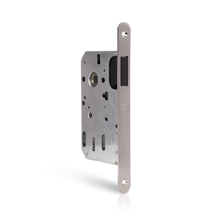 Zamek drzwiowy magnetyczny z regulowaną blachą zaczepową POKOJOWY (1)