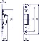 Zamek drzwiowy magnetyczny z regulowaną blachą zaczepową POKOJOWY (4)